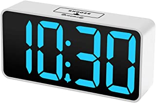 DreamSky Compact Digital Alarm Clock with USB Port for Charging, Adjustable Brightness..