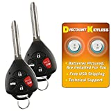Discount Keyless Replacement Uncut Car Remote Fob Ignition Key For Toyota Camry HYQ12BBY (2 Pack)
