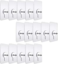 IMIKEYA 15pcs Clear Furniture Hanger Pads with Screws Kitchen Sticker Utility Hooks