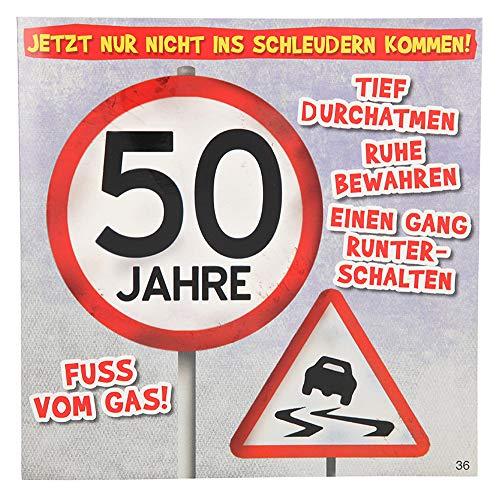 Depesche 3868.036 Glückwunschkarte mit Musik, 50. Geburtstag, Mehrfarbig