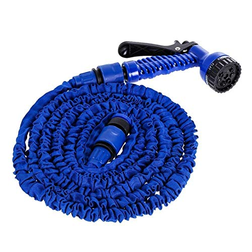 XiaoOu Water Hose Pipe 25FT-200FT Flexible Water Hose Pipe Garden Hose Expandable Magic Hose Plastic Hoses Pipe with Spray Gun Watering Car Wash Spray,Blue,200FT