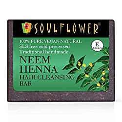 low poo products ~ soulflower neem henna shampoo bar