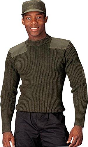 Rothco Wool Commando Sweater, Olive Drab, 36