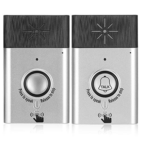Tragbare drahtlose Sprechanlage Gegensprechanlage Türklingel Mobil Indoor/Outdoor Glockenspiel Gegensprechanlage Home Security System Silber
