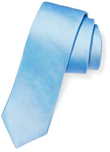 BUTTONED DOWN Men's Classic Silk 3' Necktie, Light Blue Texture, Extra Long