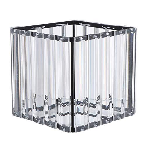 SOLUSTRE Lámpara de Techo Cuadrada con Pantalla de Cristal Lámpara Colgante de Hierro para Dormitorio Pasillo Lámpara de Pared Lámpara de Mesa