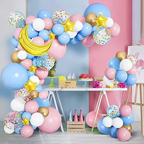 125 globos de decoración para fiestas, confeti de estrellas de papel de...