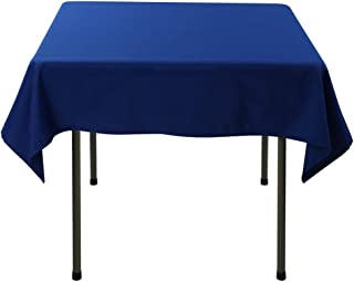 Waysle 52 x 52-Inch Square Tablecloth, 100% Polyester Washable Table Cloth for Square or Round Table, Royal Blue