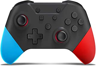 Switch コントローラー 2020年NEWモデル スイッチコントローラー 無線 HD振動 NFC ジャイロセンサー Amiibo搭載 TURBO連射機能付き スイッチの全てシステムに対応 日本語取扱説明書(ブラウン)