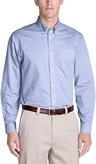 Eddie Bauer Men's Wrinkle-Free Relaxed Fit Pinpoint Oxford Shirt - Solid Long-Sl