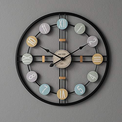 WUJIA Reloj de pared vintage de 80 cm y 32 pulgadas de...