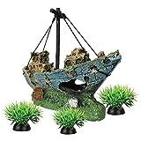 Smoothedo-Pets Decoración para acuario de peces, tamaño S/M, adorno para peces, accesorio para peces, juego de un