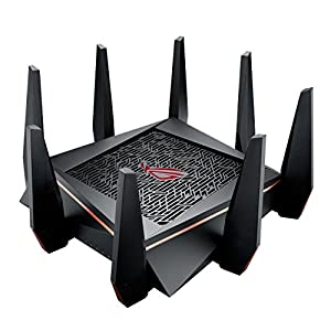 ASUS ROG Rapture GT-AC5300 AC5300 AI Mesh Tri-band 4 x 4 Gaming Wi-Fi Router with 8-Port Gigabit Gamers Private Network, Game Ports, Game Boost, Game IPS, Game Radar, Dual WAN, Black
