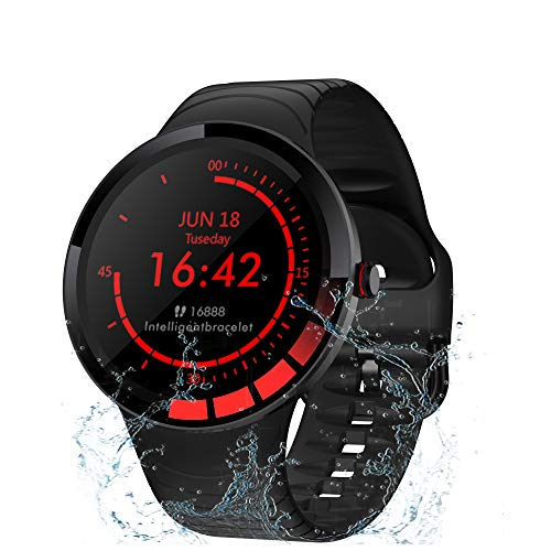 TMYIOYC Fitness Tracker, IP68 Waterproof Smart Watch, Activity Tracker HR, Fitness Watch with Pedometer, Sleep Monitor, Call & Message Reminder, Sedentary Reminder, Smart Bracelet for Men & Women