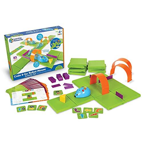 Learning Resources- Code & Go Conjunto de Actividades del ratón Robot, Color (XLR-LER2831)