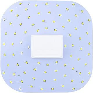 Bonlux 2D Retrofit Flat Panel LED Light Bulb GR10q 4-Pin Base - 18W 2D Square 4-Pin GR10q LED Lamp (28W 2D Linear Fluorescent Light Equivalent), Daylight 6000K, Remove/Bypass The Ballast