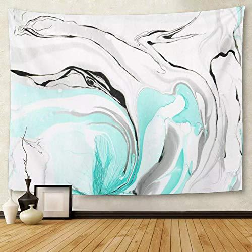 N/A Tapiz Tapiz deMandalaDecoración del hogar Mármol Encantador Bricolaje de mármol con Colores Azul Turquesa Esmeralda y Negro y tapices de Agua