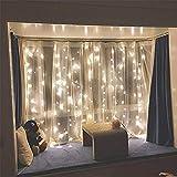 string lights curtain wall decor