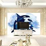 3D Fototapete Schlafzimmer Tigerhai Vlies Wand Tapete Wohnzimmer Schlafzimmer Dekoration Wandbilder Moderne Wanddeko-300X210Cm