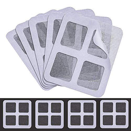 MMMA Lot de 5/6/12 Patch Ruban de Réparation Adhésif,Ruban AdhéSif pour FenêTre,RéParer Les Moustiquaires,pour Filet Moustiquaire Fenêtre Porte Anti-Insectes Anti-moustiques (5PCS)
