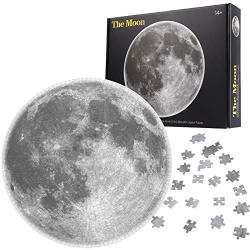 Herefun 1000 Teile Runde Puzzle, Mond Runde Puzzle Kreative, Mond Runde Puzzle Klassische für Kinder, Runde Puzzle Kinder Puzzle Spiel Geschenk (Mond)