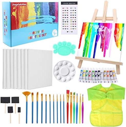 Painting Kits for Kids Angela Alex Easel Art Set 45 Pcs Acrylic Paint Set for Kids Paint Tabletop product image