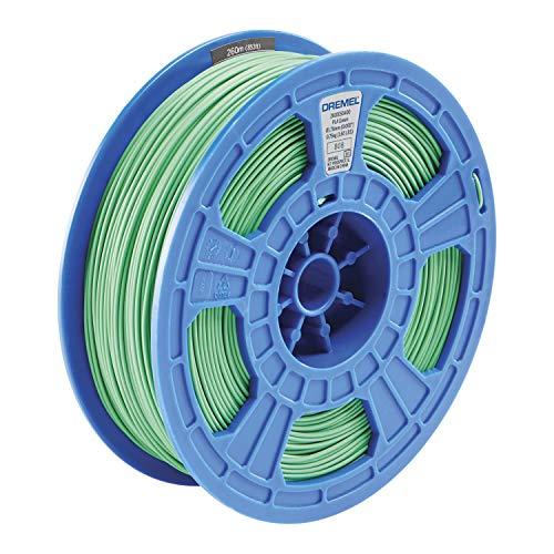 Dremel DigiLab PLA-GRE-01 3D Printer Filament, 1.75 mm Diameter, 0.75 kg Spool Weight, Color Green, RFID Enabled, New Formula and 50 Percent More per Spool