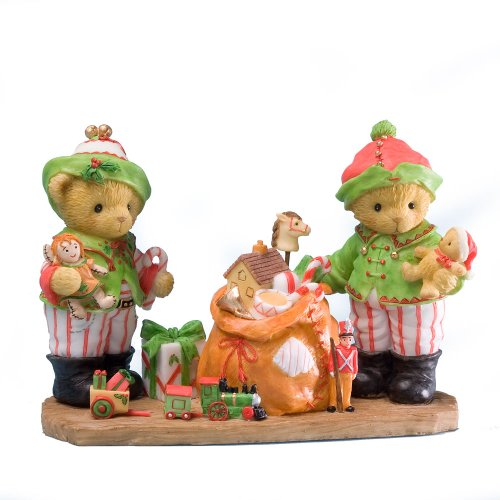 Enesco Cherished Teddies Collection Elves with Bag of Toys Figurine