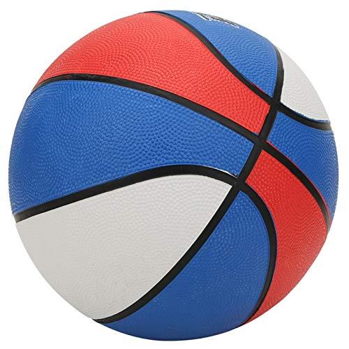 DAUERHAFT Tamaño 7 Baloncesto Baloncesto de Goma Tres Colores para Estudiantes Entrenamiento Bola de enseñanza(No. 7 Basketball)