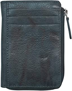 ili New York 7411 Leather Credit Card Holder (Indigo)
