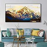 Paisaje póster e impresión mural arte lienzo pintura moderna abstracta Jinshan pintura decorativa para sala Cuadros50x100cm