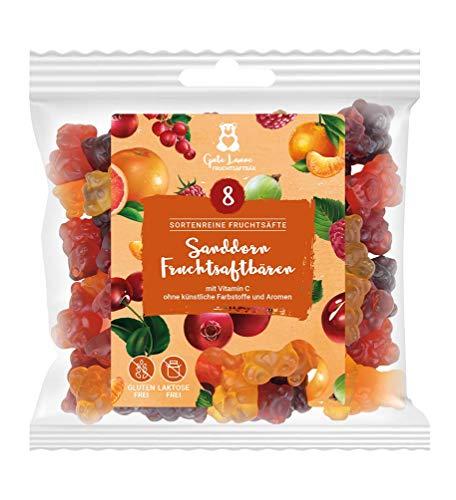 naschlabor x Fruchtsaftbär mit Herz| Sanddorn | 20% sortenreine Fruchtsäfte mit echtem Sanddorn | Ohne künstliche Farbstoffe und Geschmacksverstärker | Gluten- und laktosefrei