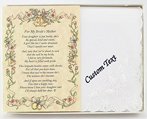 Wedding Collectibles Personalized Poetry Hankie From the Groom to the Bride's Mother Wedding Handkerchief
