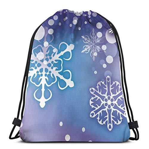 Hangdachang Navidad Santa Claus cordón mochila gimnasio saco cinch bolsa cadena bolsa...