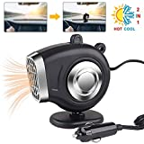 Seamuing Car Heater Fan Defroster, Portable 2 In 1 Car Heater with Heating and Cooling 12v 150w Automobile Windscreen Fan in Cigarette Lighter Demister Vehicle Heater Fan for Windshield (Black)