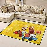 Wlkecgi Super Mario Alfombra cuadrada para sala de estar, regalo para el dormitorio de los niños, 180 cm x 210 cm, setas de Mario
