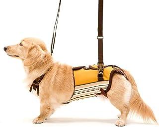 With(ウィズ) 歩行補助ハーネス LaLaWalk 小型犬・ダックス用 サポーターパッド付 マルチストライプ M サイズ