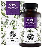 NATURE LOVE® OPC Traubenkernextrakt - Premium: aus Original französischen Trauben UND Extraktion in Frankreich - 800mg Extrakt je Tagesdosis -