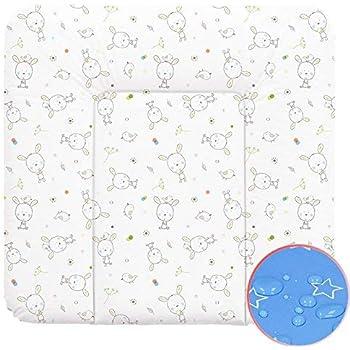 Wickelauflage Wickelunterlage Wickeltischauflage 70x75 cm Abwaschbar - Weiß Traumhase 70 x 75 cm