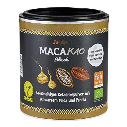 Macakao Black 125g - Das Power Kakaopulver mit schwarzem Maca (45%), Reich an natürlichen Mineralien wie Phosphor, Eisen und Magnesium ✓ 12% pflanzlicher Eiweißanteil. Ohne Chemie ✓