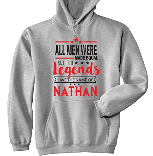 TEESQUARE1st Men's Nathan Grey Hoodie Size XXLarge