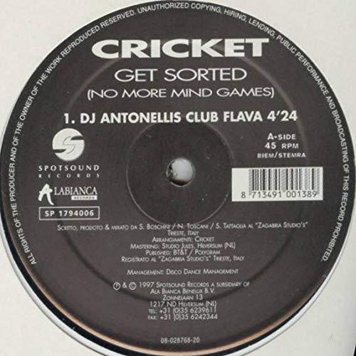 Cricket - Get Sorted (No More Mind Games) - Spotsound Records - SP1794006