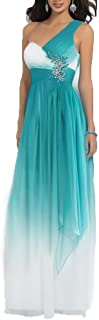 Aurora Bridal Womens Pleated Long Ombre Bridesmaid Dresses Formal Evening Gown AB00022