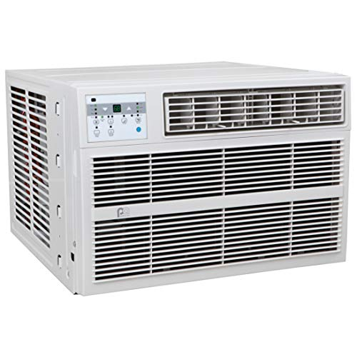 PerfectAire 12,000 BTU Air Conditioner with Electric Heater Window A/C with Heat, 12000/11600, Gray