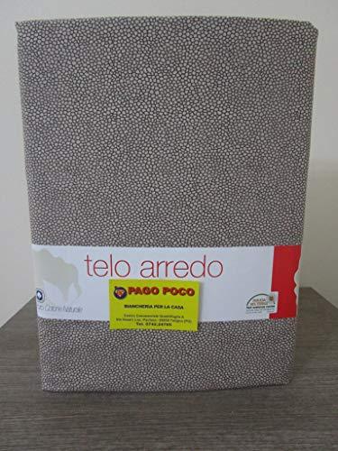 Pago Poco Mehrzweck-Überwurf mit Borbonese-Design, Farbe: Braun, 100 % Baumwolle, aus Naturfaser, Neuheit 2020!! !
