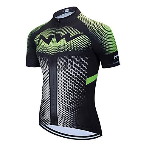 Maillot de Ciclismo Hombre Camiseta Manga Corta Jersey Ropa para Bicicleta Verano MTB Camisa