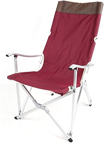 1949shop Le Fauteuil Pliant extérieur de Support de Support d'alliage d'aluminium de chaises pour la Plage de pêche de Camping, 2 Couleurs (Couleur  A)