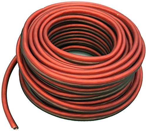 Absolute USA SWS14R25 Professional Premium Speaker Wire 14 Ga 25' - Clear Red and Brown