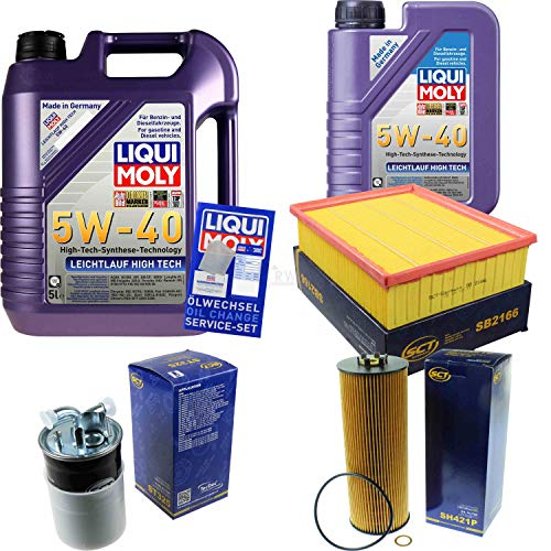 QR-Parts Set 85477259 3863 ST 325 SH 421 P 3864 SB 2166 6L Liqui Moly High Tech 5W-40 + paquete de filtros SCT-Germany 11236826