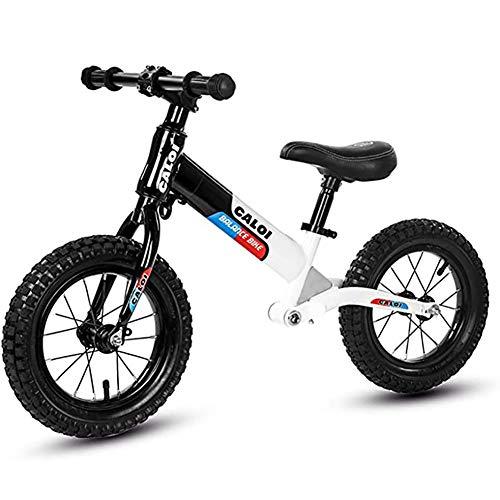 WXX Bicicleta De Equilibrio para Niños De 2 A 7 Años Cuadro De Acero Al Carbono 12'Sin Pedales Andar Scooter De Doble Rueda con Amortiguación